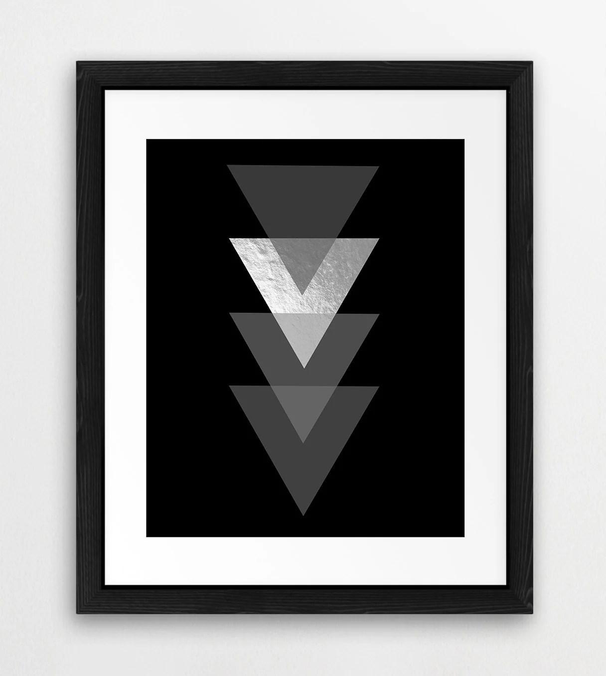 Triangle Shapes Printable File Geometric Triangle Pattern