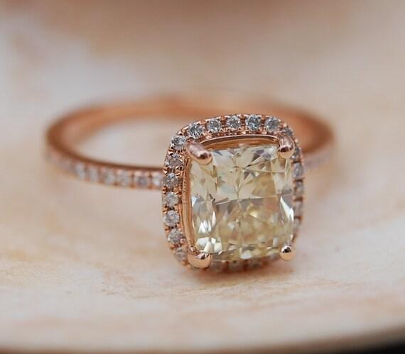 Gelbe Diamanten Engagement Ringe 2ct VVS2 Jasmine Gelbe