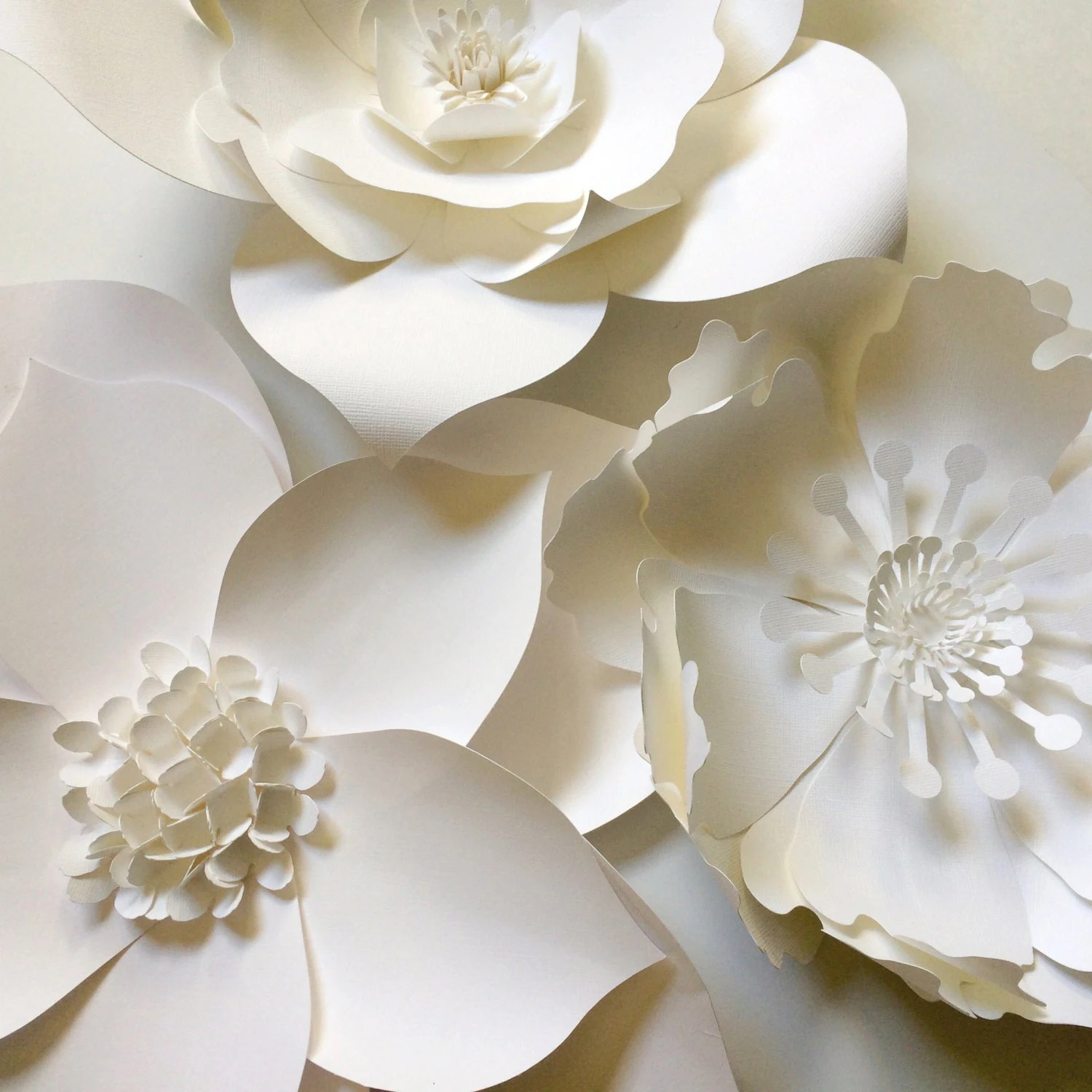 Paper Flower Wall Decor large paper flower backdrop by ... on Hanging Wall Sconces For Flowers id=97925
