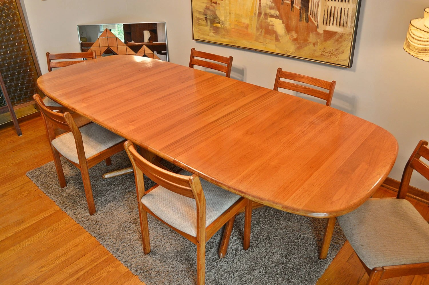 arhaus dining tables and chairs mid century solid teak dining table and 6 chairs by 348