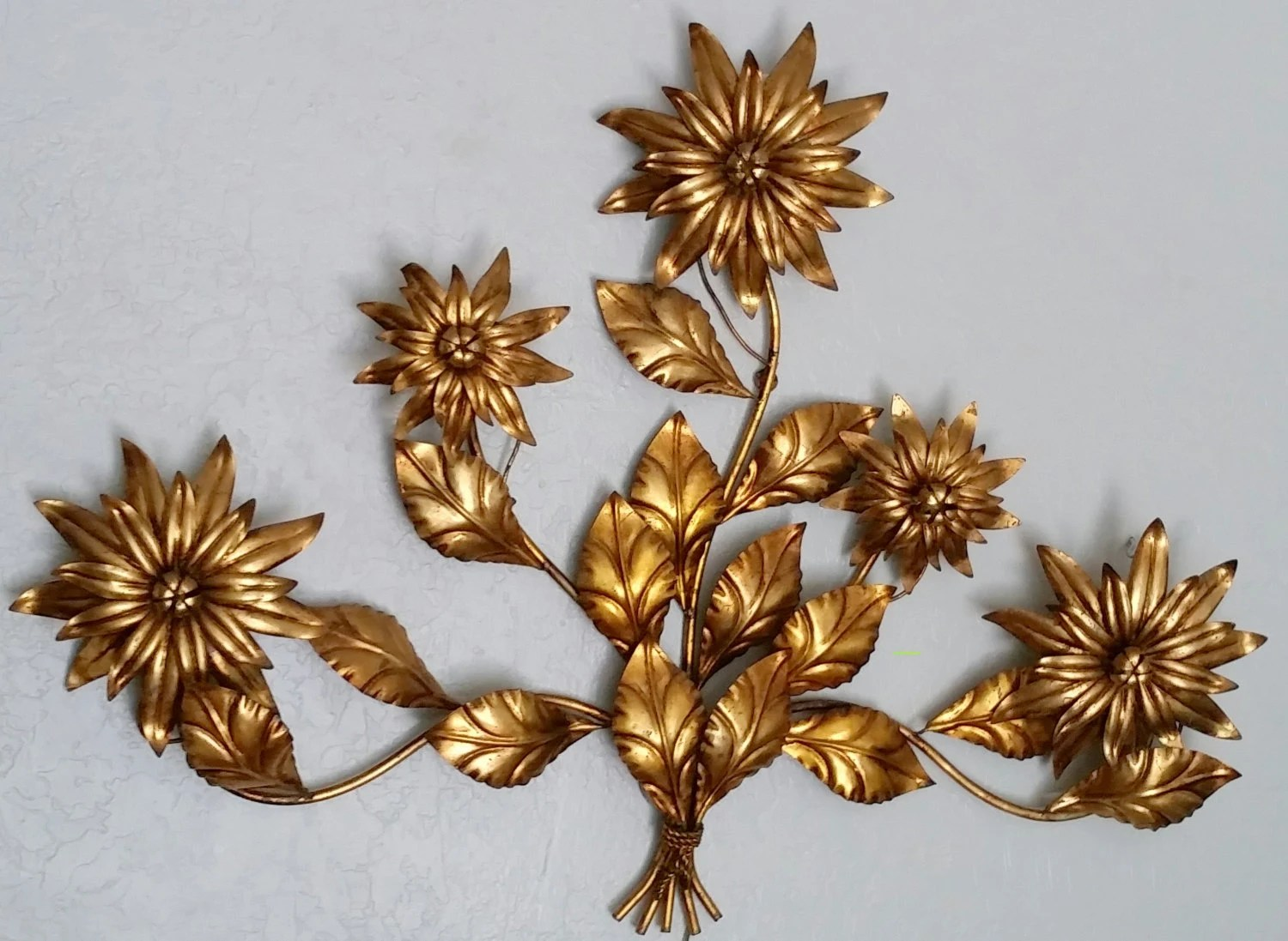 Wall Sconce Vintage Italian Vintage Antique Gold Gilded Floral on Wall Sconces With Flowers id=68100