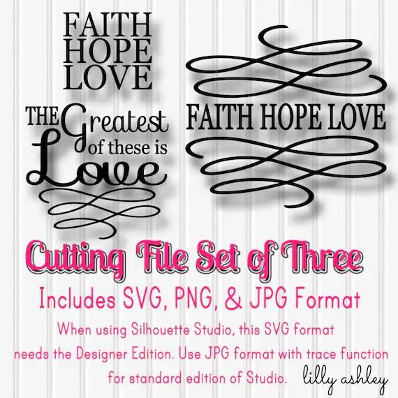 Download SVG Files Set of 3 Faith Hope Love-SVG PNG jpg all