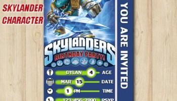 SKYLANDERS BIRTHDAY INVITATION Skylanders Superchargers Invitation