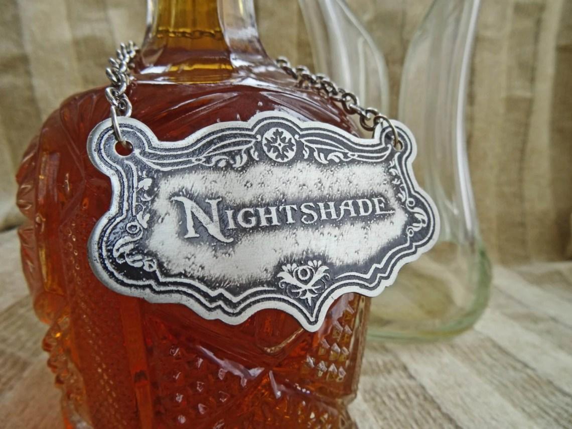Nightshade Decanter Label...