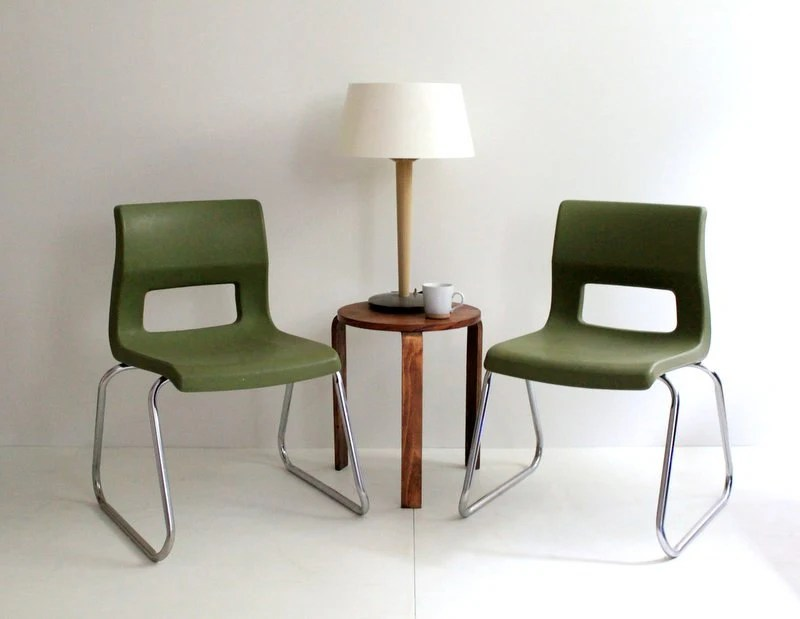 Vintage Mid Mod 70's Stacked Peabody Chairs