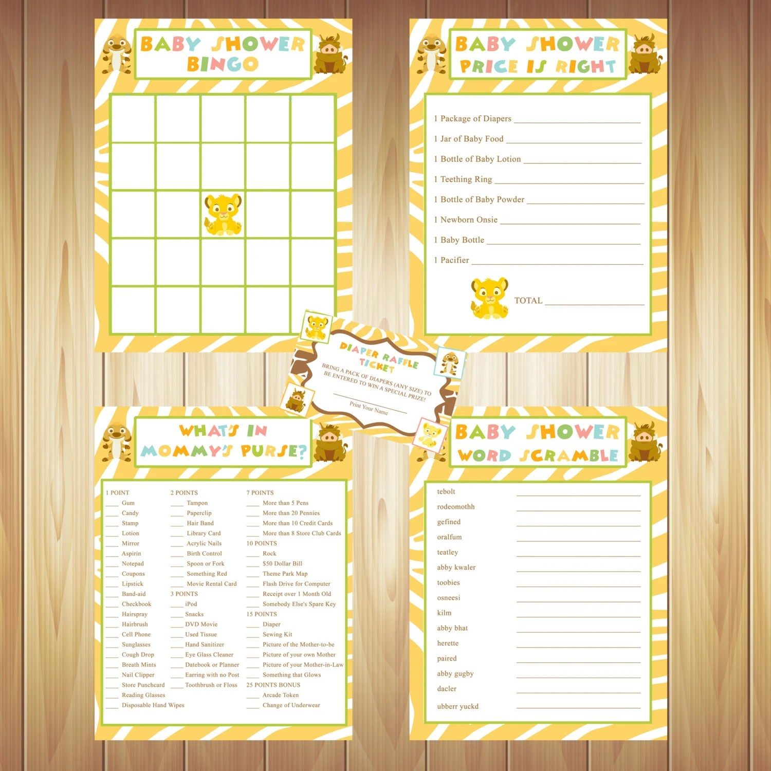 Lion King Baby Shower Games