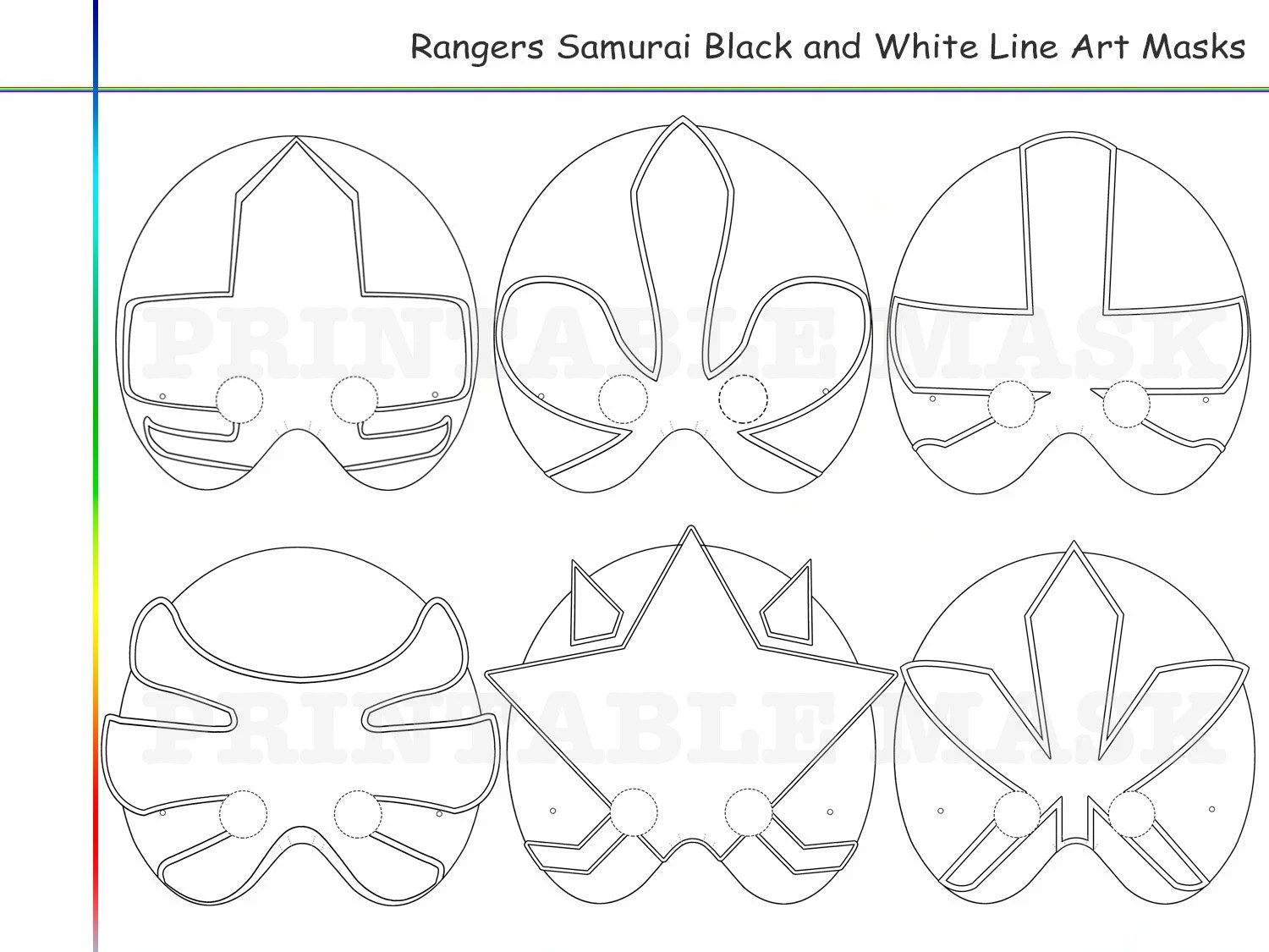 Coloring Pages Hero Samurai Party Printable Black And White