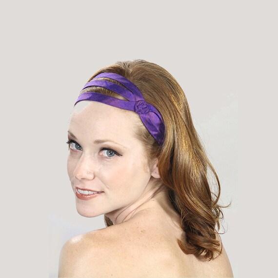 Fashion Headbands For Women Purple Headband Silk Headbands