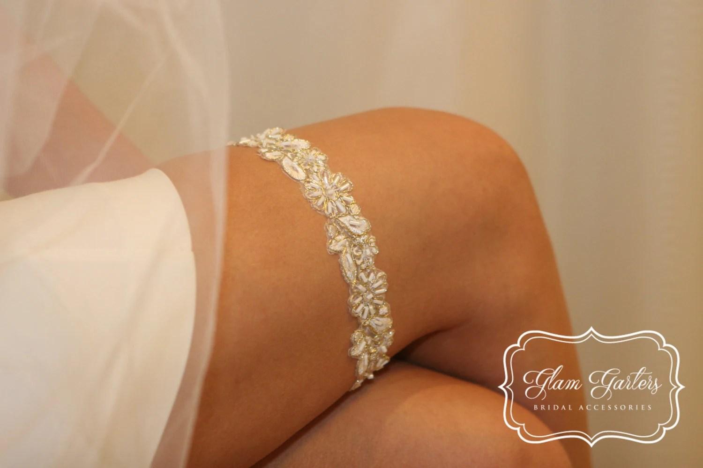 GlamGarters Wedding Bridal Leg Garters Sophia Garter Crystal
