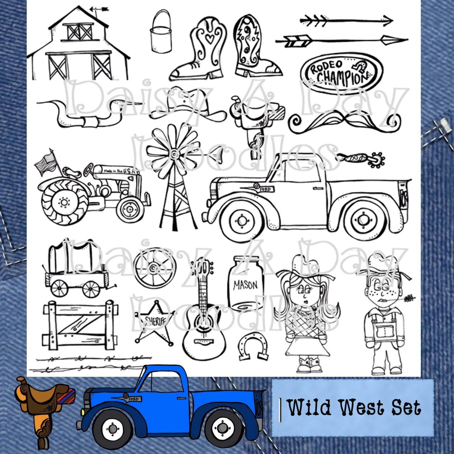 Wild West Gone Country Clip Art Set By Daisyadaydoodles On