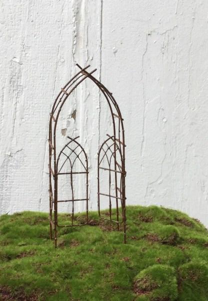 fairy garden trellises Miniature Garden Arbor Trellis Fairy Garden Arbor