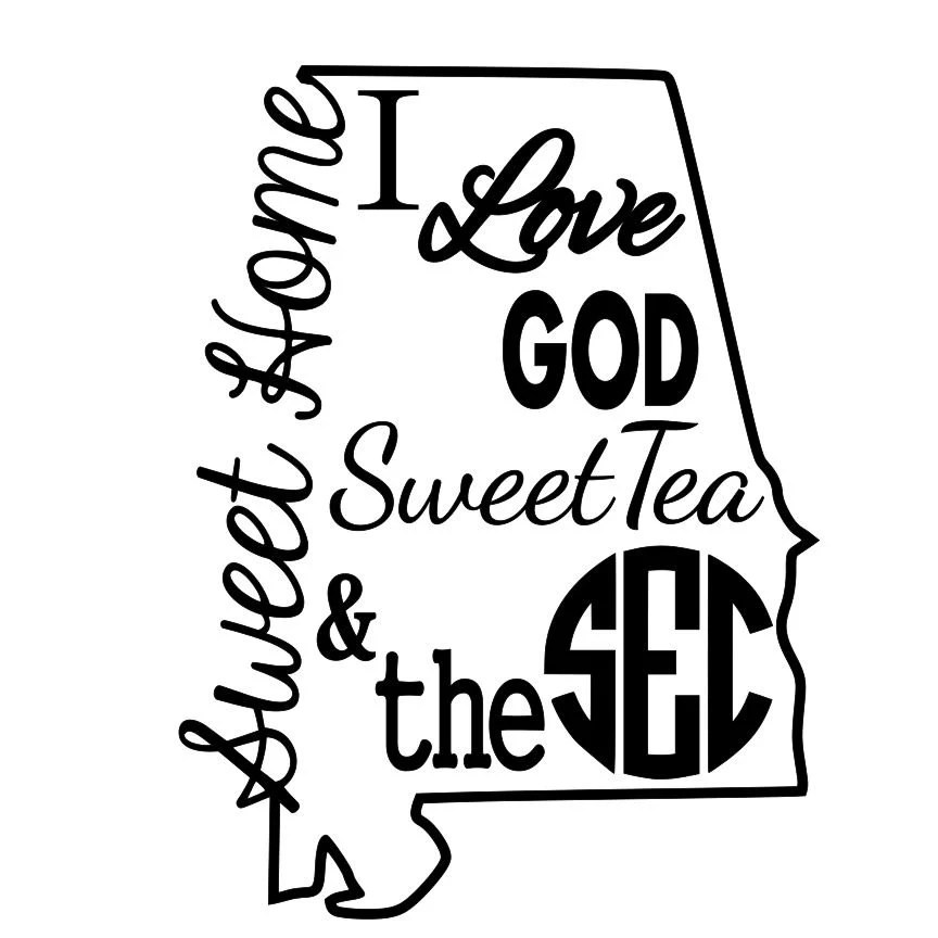 Download I love god sweet tea and the SEC svg and DXF file.