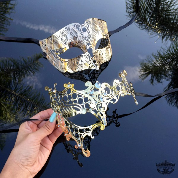 New Extravagant Masquerade Couples Mask Set His & by ...