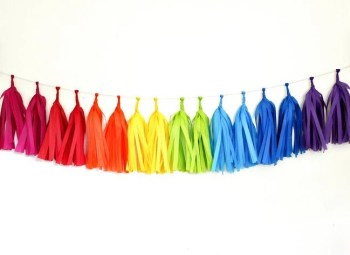 Tissue Paper Tassel Garland - Rainbow Party theme - Party set - Birthday decorations - Pool Party - Fairys Party - 1st Birthday