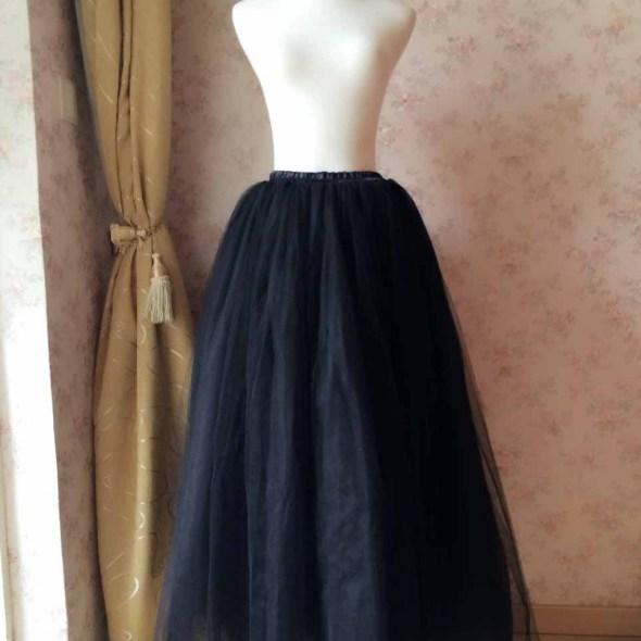 21e91a160857 Black Maxi Tulle skirt, Fashion Floor Length Tulle Skirt black, Plus size  Black Tutus, Black Tulle Skirt, Custom magic1668