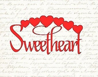 Download Sweetheart svg | Etsy