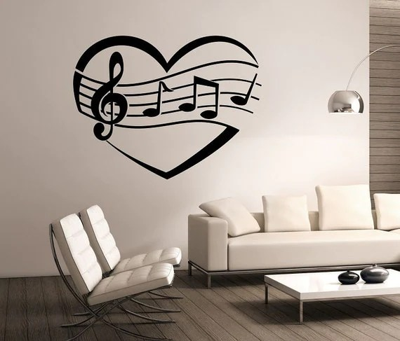 I Heart Music Wall Decal by StateOfTheWall