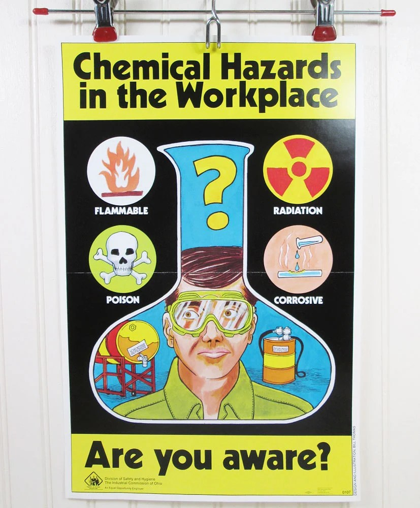 Posters Chemical Industry Safety