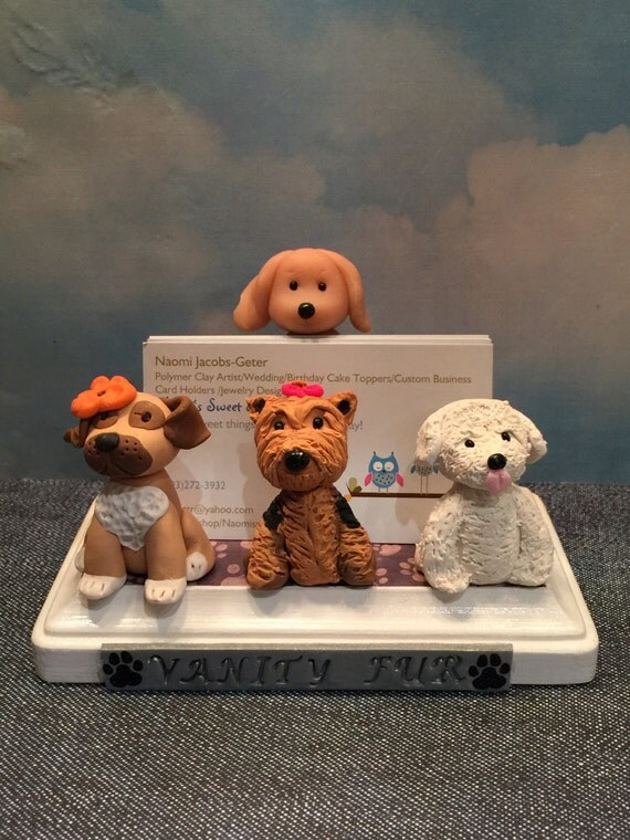 Business Card Holder For Pet Grooming Pet Hospital