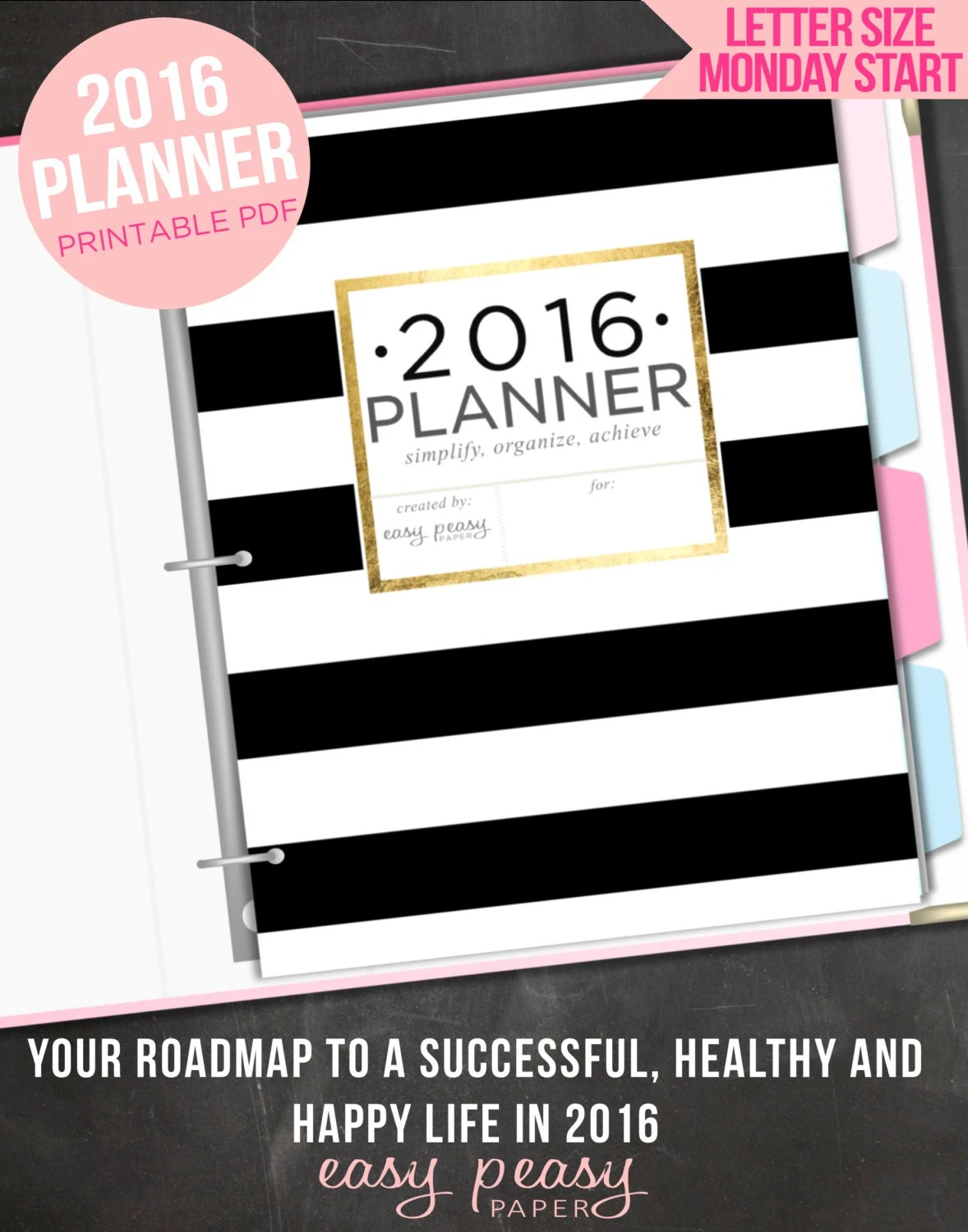 Planner Printable Organizer Letter By Indigoprintables