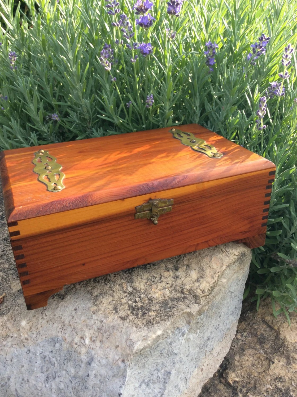 Man Cave Storage Chest : Vintage hand made cedar wooden chest box man cave