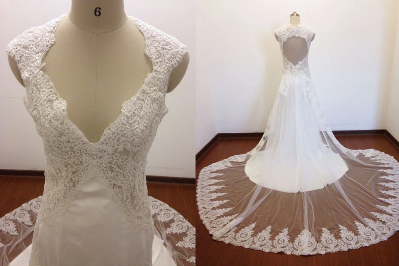 Romantic Wedding Dresses Cap Sleeves Wedding By