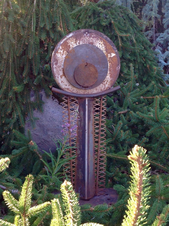 Recycled Metal Outdoor Garden Art Abstract Sculpture on Backyard Metal Art id=66616