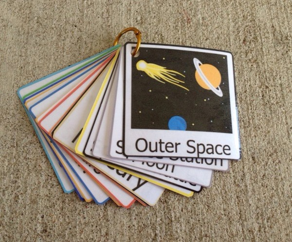 Planet flash cards solar system outer space by LearningSPED