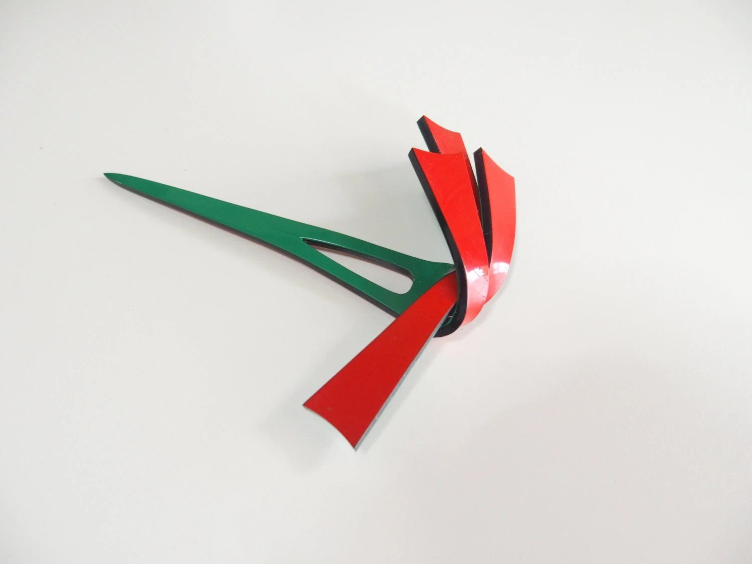 Unique Kanzashi Japanese Hair Accessory Red Green 十六 311