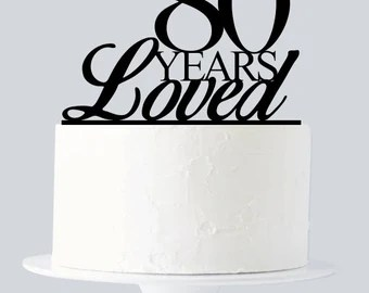 Download 50 Years of Love Cake Topper 50th Anniversary Cake Topper