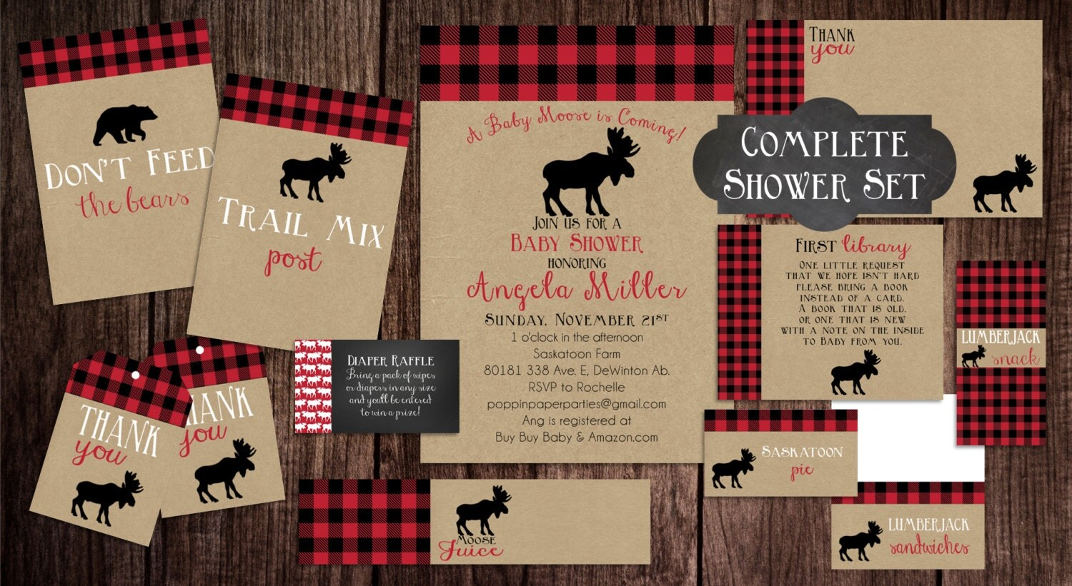 Baby Shower Invitations Lumberjack
