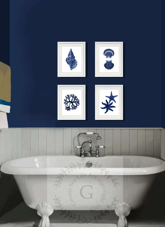 Blue Bath Accessories Set