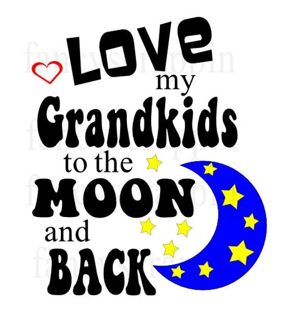 Download Love My Grandkids To The Moon And Back T Shirt Design SVG