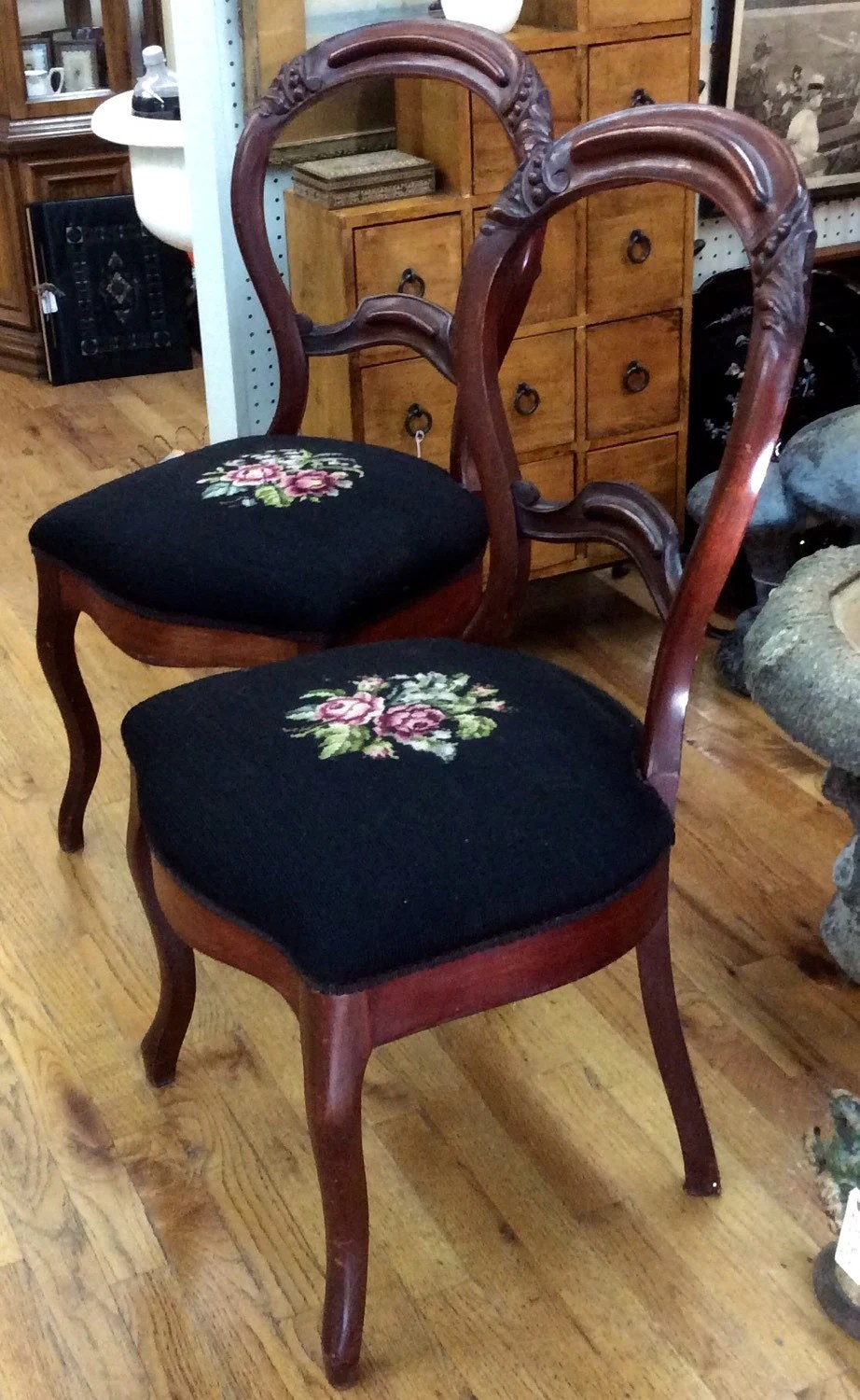 Charming ... Ts Berry Furniture By Victorian Rosewood Parlor Dining Chairs Black And  Pink ...