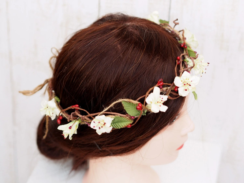 Wedding Floral Crown Bridal Head Wreath Flower Girl Wreath