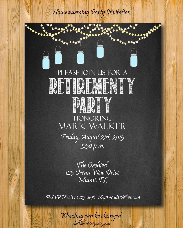 Custom Retirement Invitations