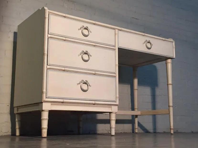 drexel bambou bamboo mid century modern 4 drawer desk. Black Bedroom Furniture Sets. Home Design Ideas