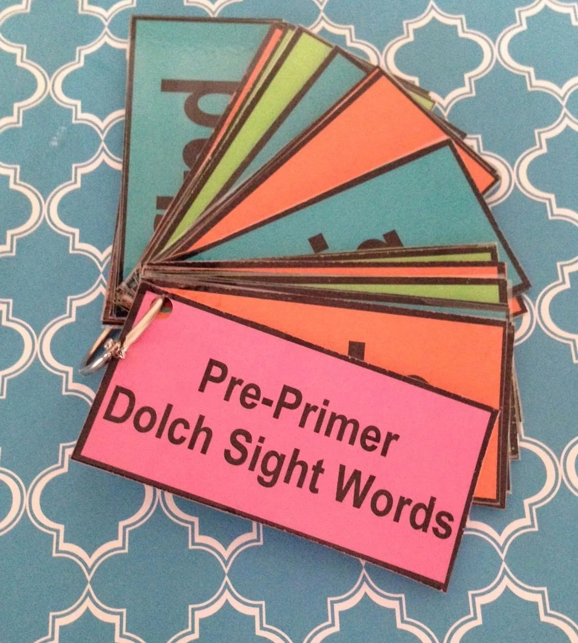 Pre Primer Dolch Sight Words Flash Cards Teacher Made Resource