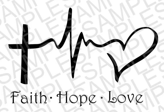 Download Faith Hope and Love SVG DXF Digital Download by ...