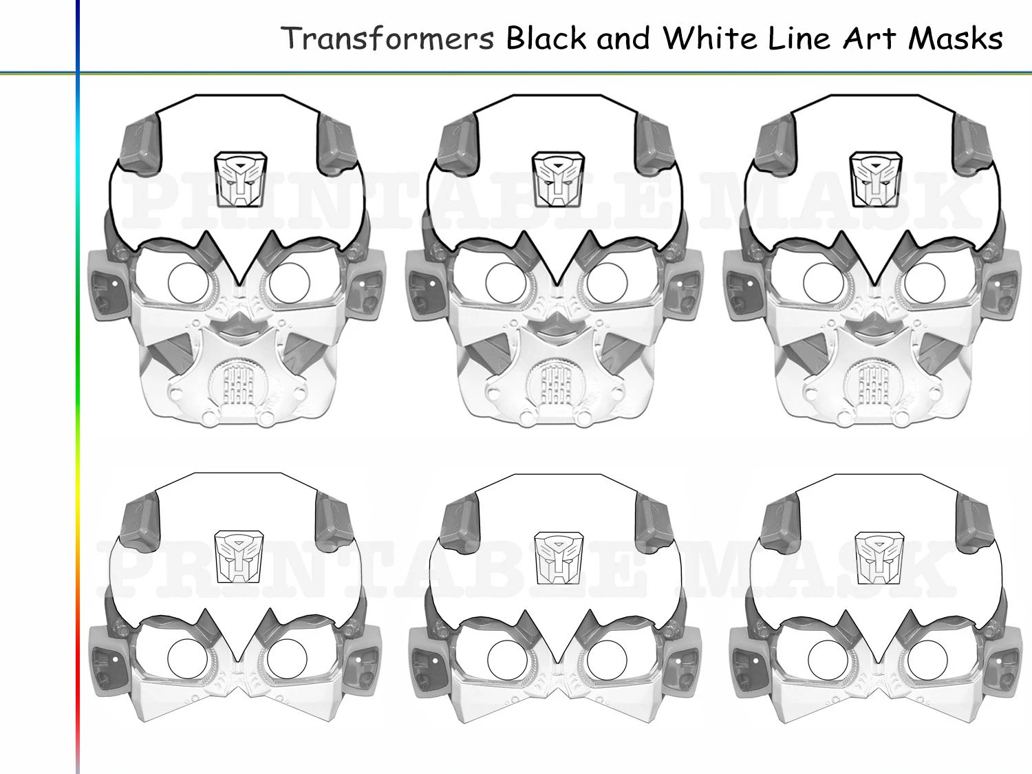 Coloring Pages Transformers Party Printable Black And White