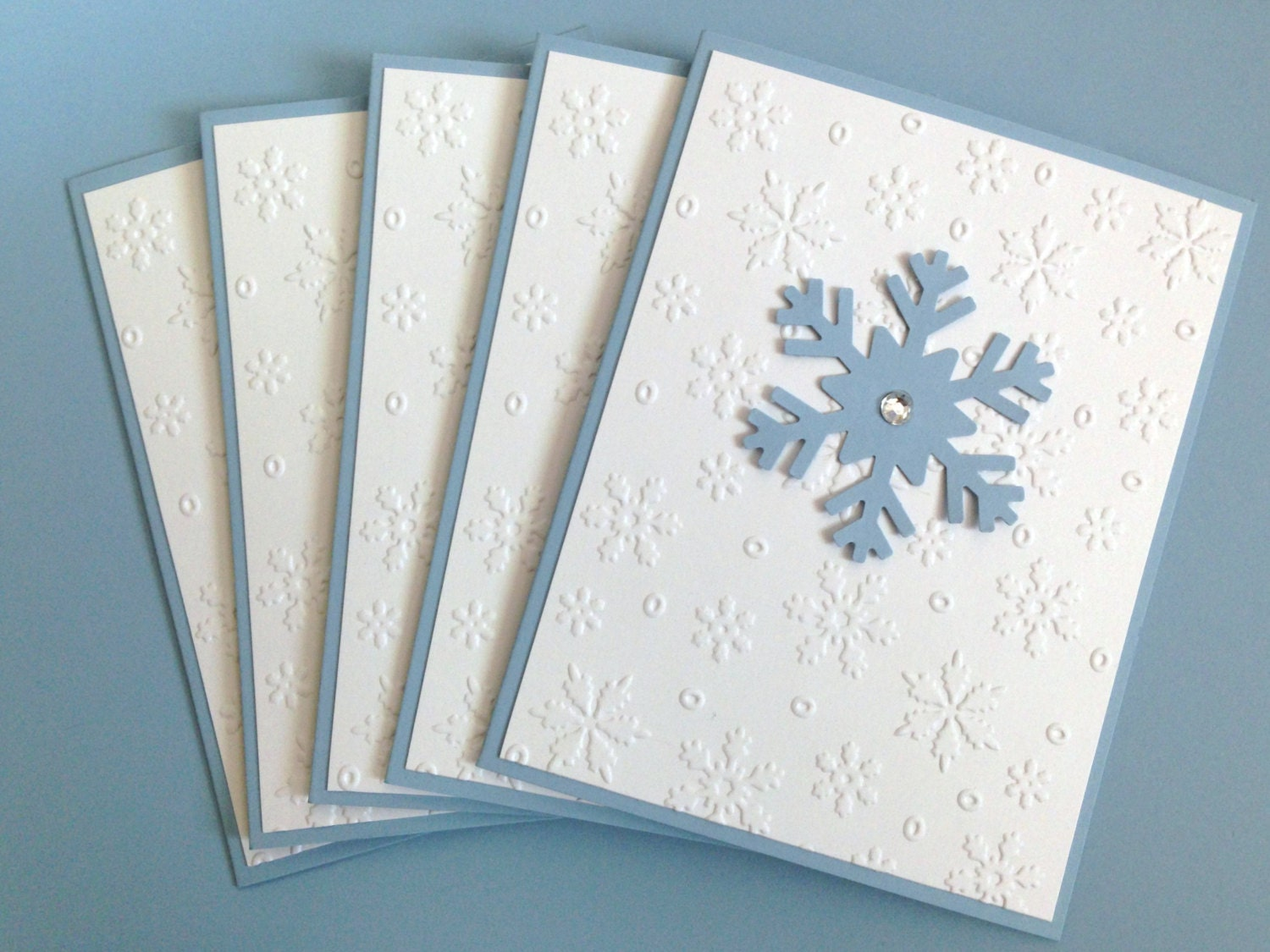 Snowflake Card Set Boxed Holiday Cards Embossed Christmas