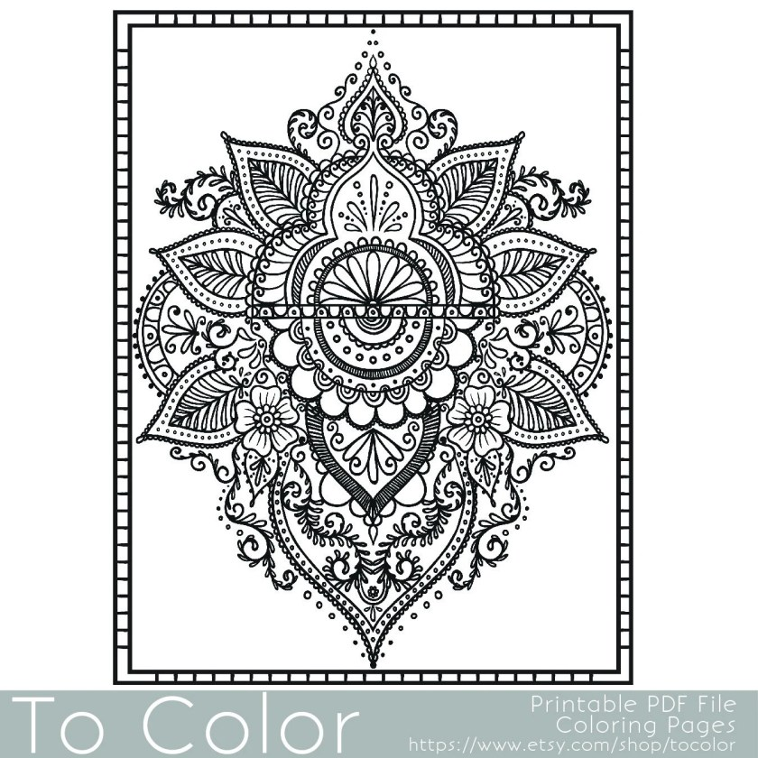 paisley printable coloring pages for adults paisleytocolor