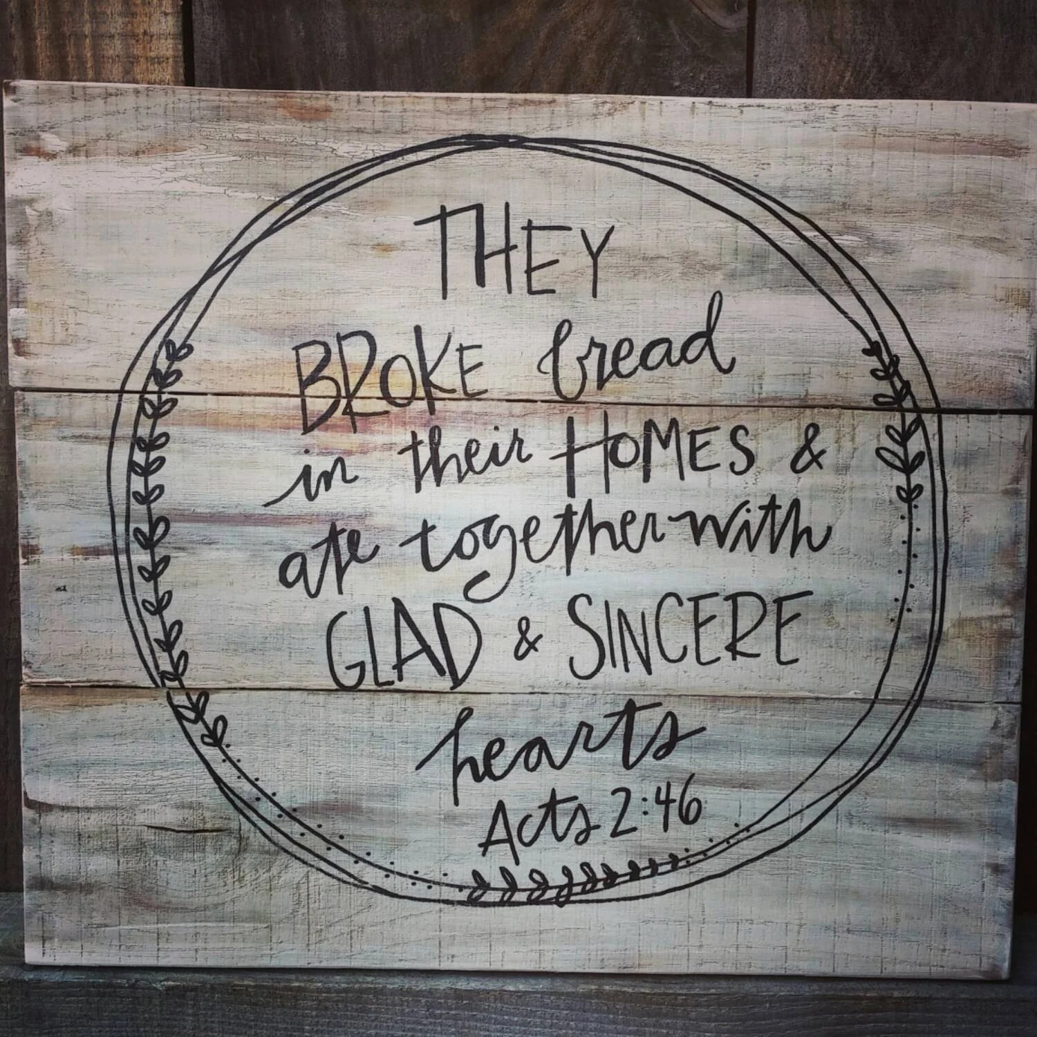 They Broke Bread In Their Homes Inspirational By