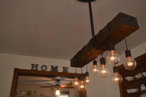Farm House Light Pendant Lighting Wood Light Kitchen