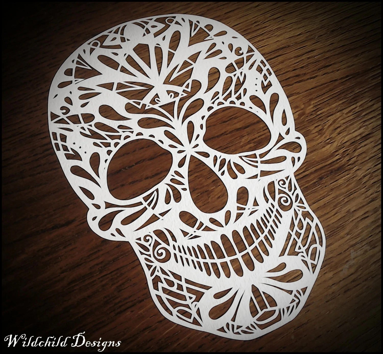 Sugar Skull Day Of The Dead Gothic Dark Alternative Paper