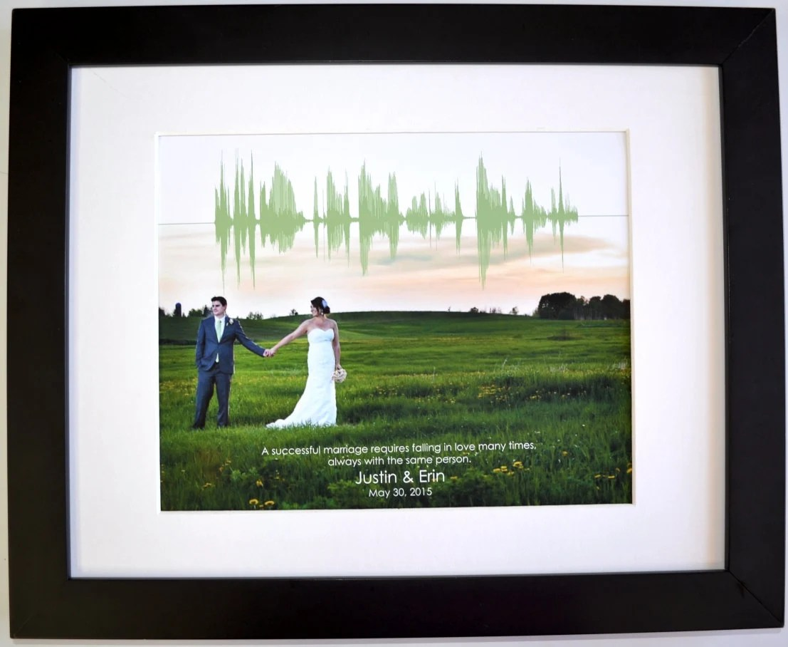 1st Anniversary Gift For Men Personalized Wedding Photo First