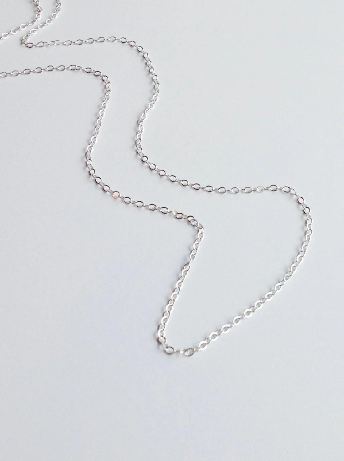 Sterling Silver Chain Necklace Thin Simple Chain Customized