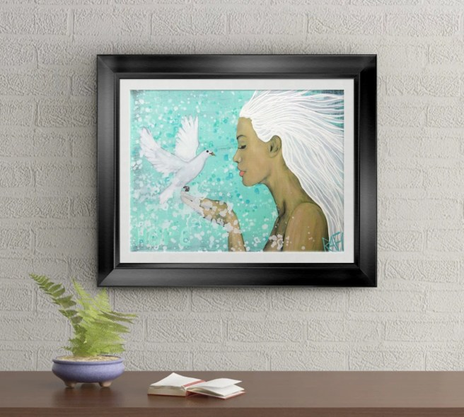 Hope Dove Signed Art Print of Original Sold Painting By Rafi Perez