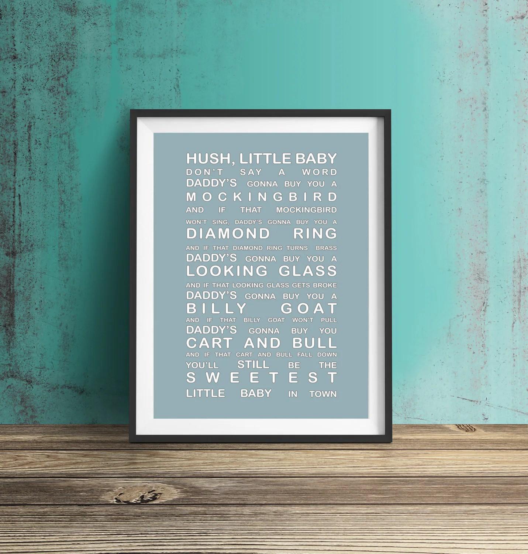 Hush Little Baby Don T Say A Word Nursery Decor