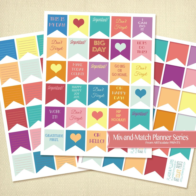 Horizontal Eclp Printable Planner Flag Stickers Flag